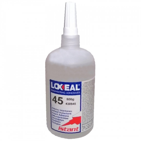 INSTANT ADHESIVE LOXEAL 45 CYANOACRYLATE 500 GR.