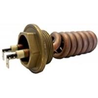 """rezistenta cu filet 1-1/4"""" pentru boiler aparate de cafea mici WEGA MINI , BLITZ GEMINI , etc , 1300W 230V  L=105mm"""