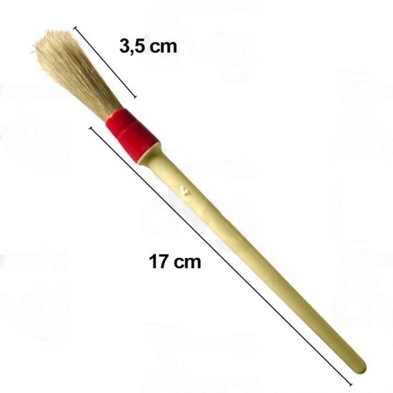 Pensula curatire cutite rasnita cafea- 4mm -maner lemn