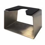 CUBE STAINLESS STEEL FILTERHOLDER SUPPORT WITH RUBBER PROTECTION