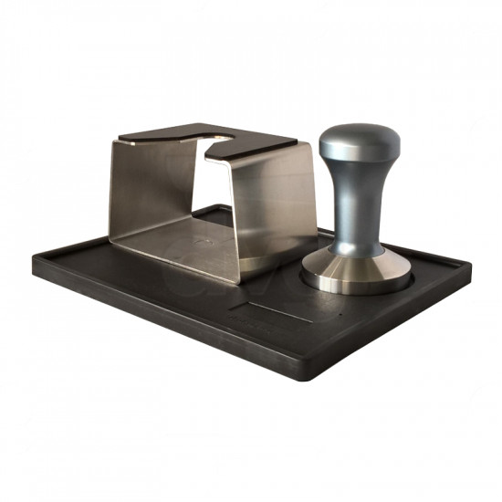 AMPING MAT WITH CUBIC S. STEEL UNIVERSAL FILTERHOLDER STAND AND FANTASY TAMPER DIA 58