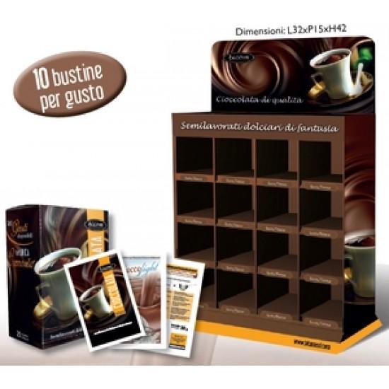 raft pentru prezentarea plicurilor de ciocolata calda