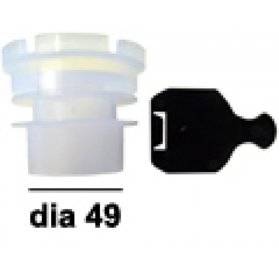 Adaptor plastic Dia 49 with ending plate
