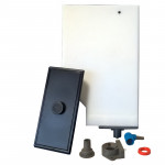 WHITE WATER TANK WITH SENSOR AND LID - H.235MM