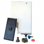 WHITE WATER TANK WITH SENSOR AND LID H.247MM