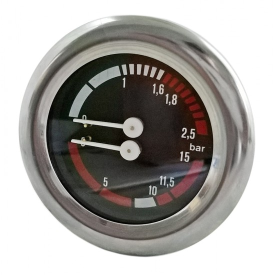 ceas - manometru cu scala dubla-presiune pompa si boiler - pentru expresor CIMBALI M20