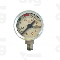 MANOMETER RADIAL FITTING 80/85 CHROME