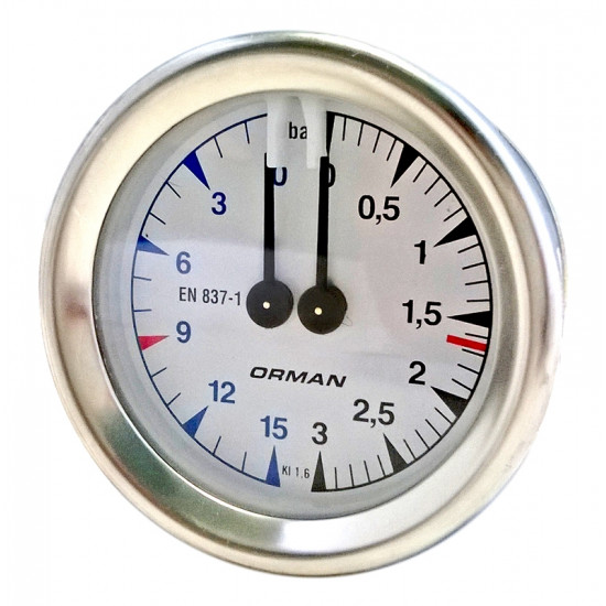 MAGISTER DOUBLE SCALE MANOMETER
