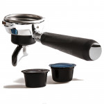 SINGLE DOSE COMPATIBLE LAVAZZA BLUE CAPSULE FILTERHOLDER MOD. CIMBALI -WITH CURVED SPOUT