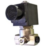 LUCIFER SOLENOID VALVE 2 WAYS 1/8 1/8 WITH FLOW REGULATION 220/240V 50/60 Hz