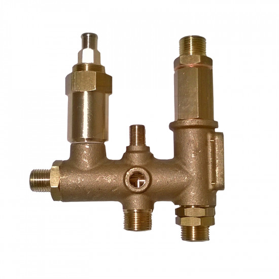 """1/4"""" WATER CHARGING VALVES UNIT WITHOUT MANUAL CHARGING WITH BOILER NON RETURN VALVE AND MIXER HOLE"""