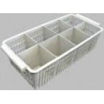 Cutlery washing nylon basket with 8 divisions