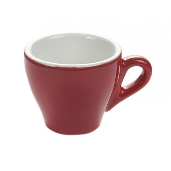 Ceasca cafea cappuccino portelan model GENOVA - rosu 162cc